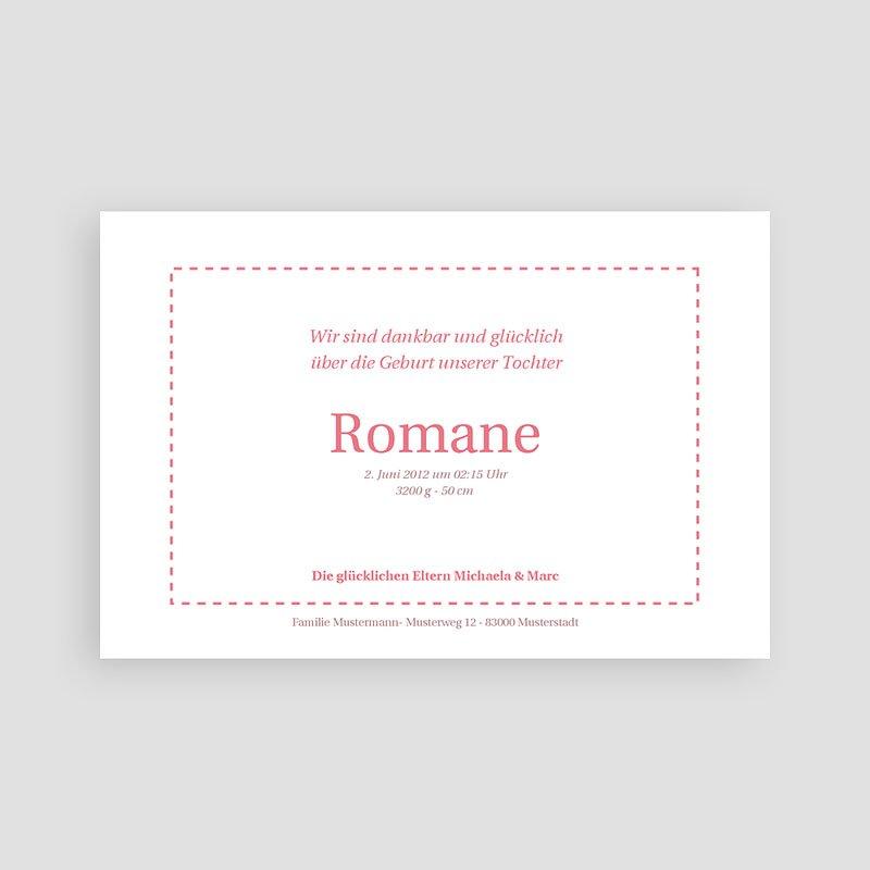 Geburtskarten für Mädchen Rosendesign pas cher