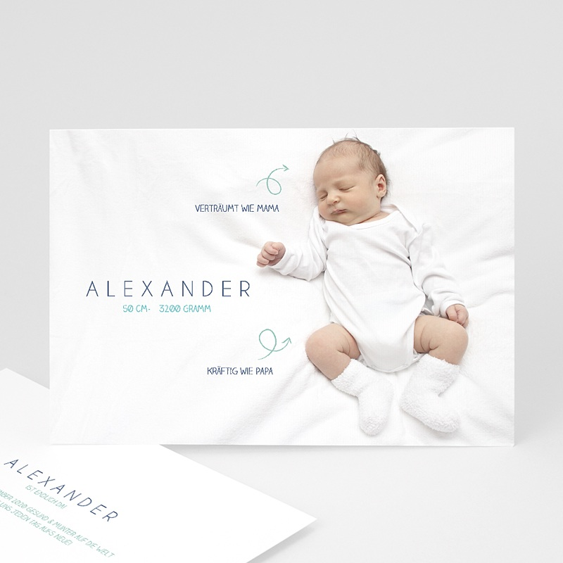Geburtskarten für Jungen Kleine Pfeile