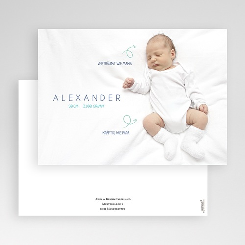 Babykarten für Jungen - Kleine Pfeile 41650 preview