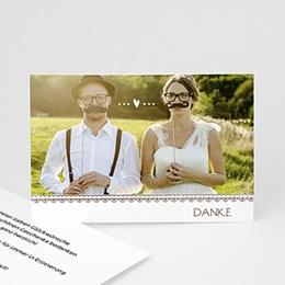 Danksagungskarten Hochzeit  - Konfettiregen - 1