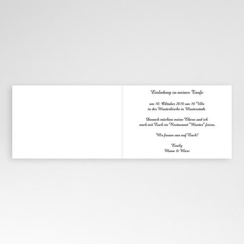 Einladungskarten Taufe Mädchen - Schokolade 4175 preview