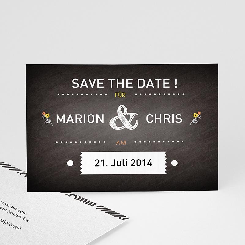 Save The Date Karten Hochzeit Tafeldesign