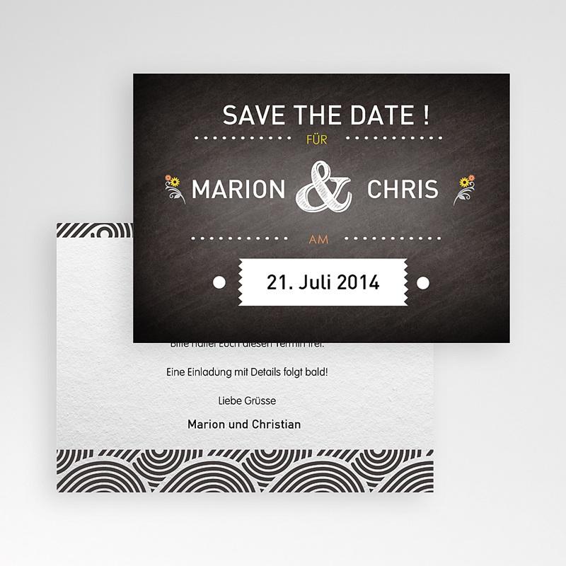 Save The Date Karten Hochzeit Tafeldesign pas cher