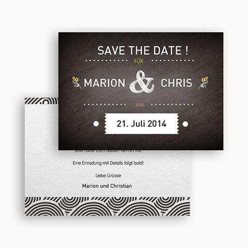 Save The Date  - Tafeldesign 41754 preview