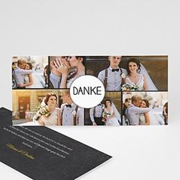 Danksagungskarten Hochzeit Tafeldesign