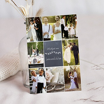 Danksagungskarten Hochzeit  - Blumenkrone - 0
