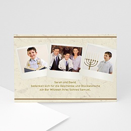 Danksagungskarten Bar Mitzvah Noah