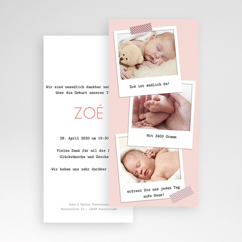 Geburtskarten für Mädchen - Pola 41829 preview