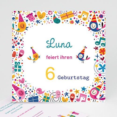 Einladungskarten Geburtstag Mädchen Partylaune