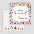 Einladungskarten Geburtstag Mädchen Partylaune gratuit