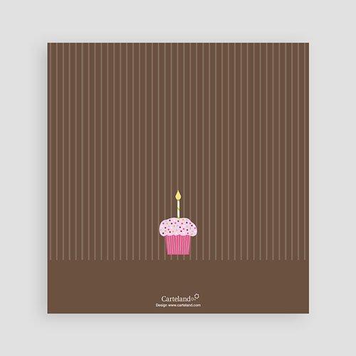 Einladungskarten Geburtstag Mädchen Cupcake rosa pas cher