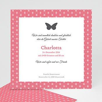 Geburtskarten für Mädchen - Schmetterling - 0