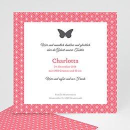 Karten Geburt Schmetterling