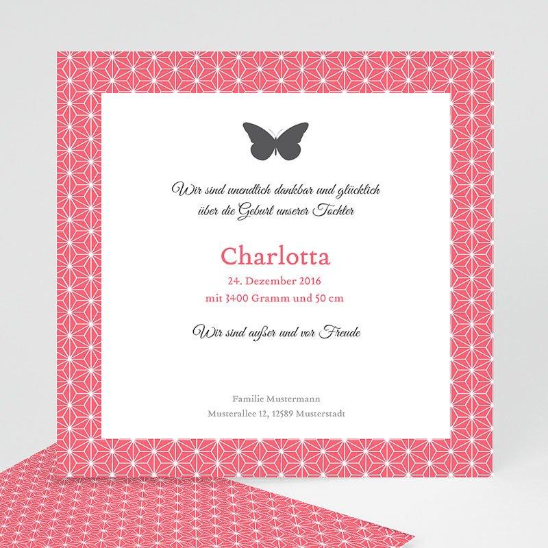 Geburtskarten für Mädchen Schmetterling