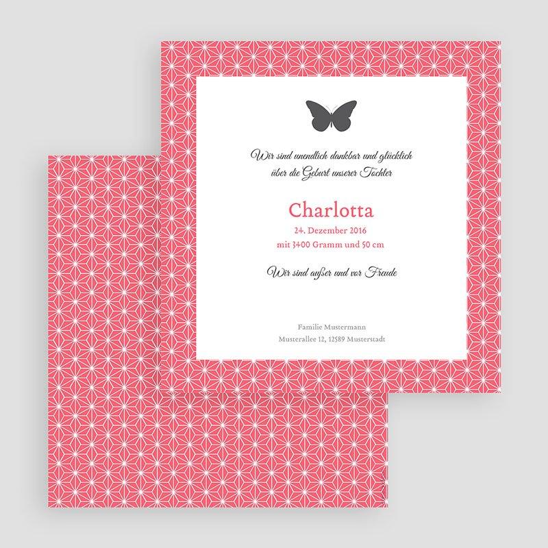 Geburtskarten für Mädchen Schmetterling gratuit