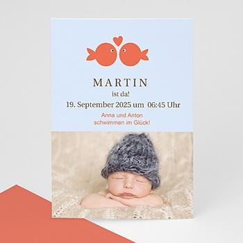Geburtskarten für Jungen Goldfisch