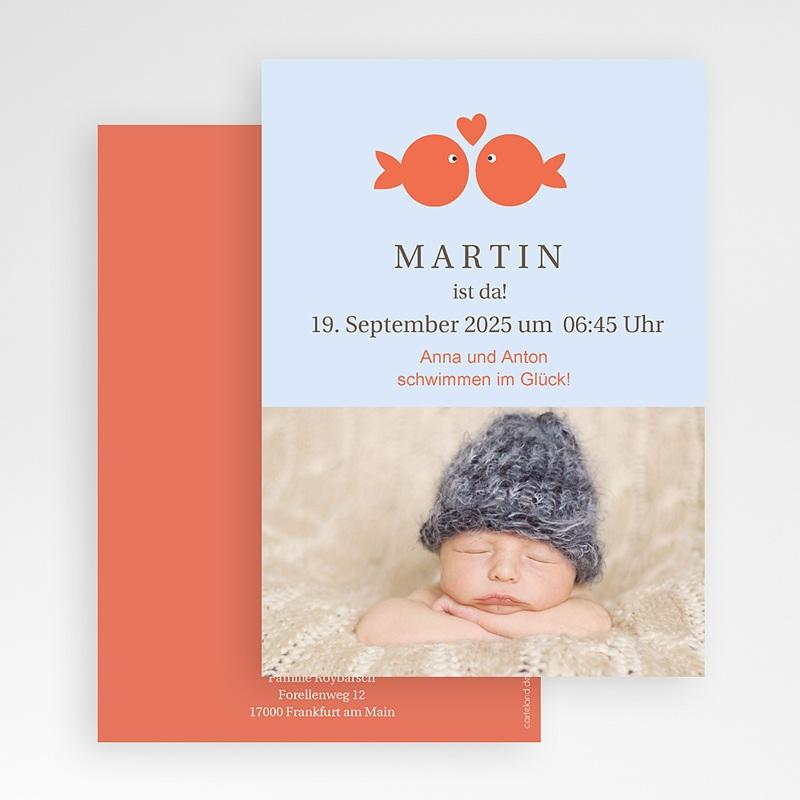 Geburtskarten für Jungen Goldfisch gratuit