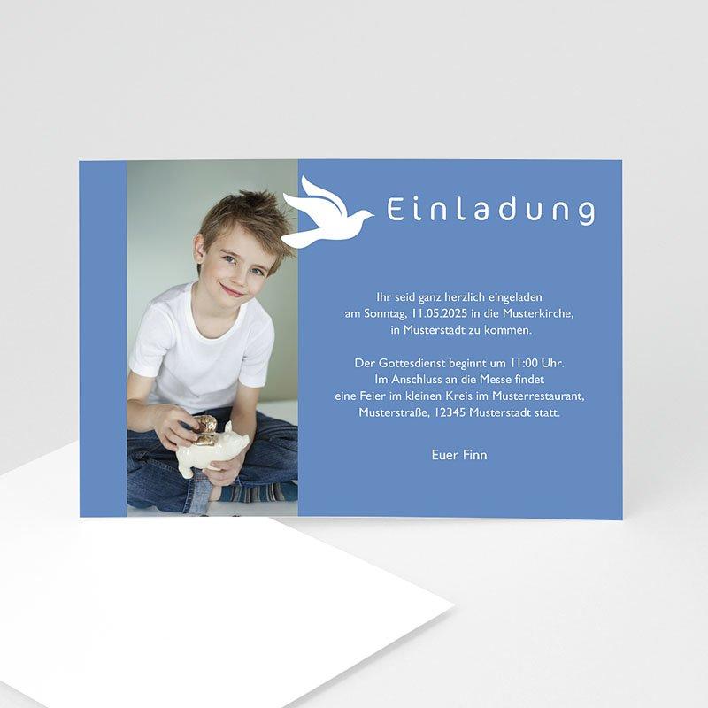 Einladungskarten Kommunion fur Jungen Symbol Taube