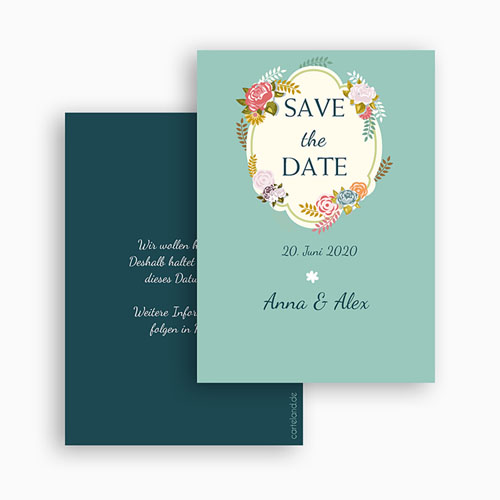 Save The Date  - Vintage Romantik 41963 test