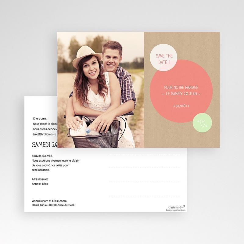 Save The Date Karten Hochzeit Kreisförmig pas cher