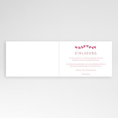 Einladungskarten Kommunion Mädchen - Floral 42093 preview