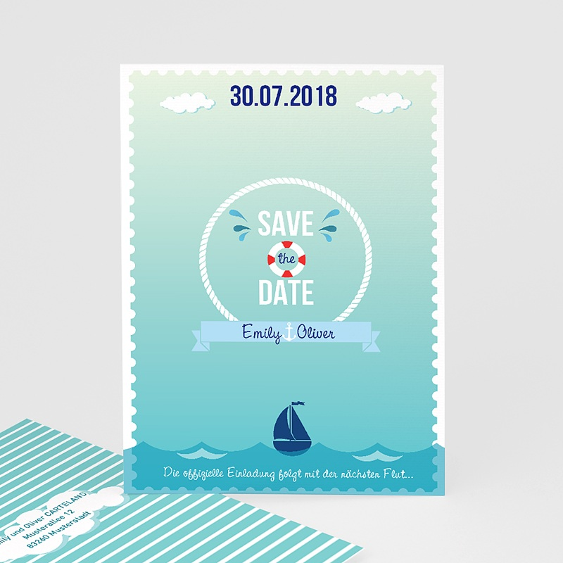 Save The Date Karten Hochzeit Anker