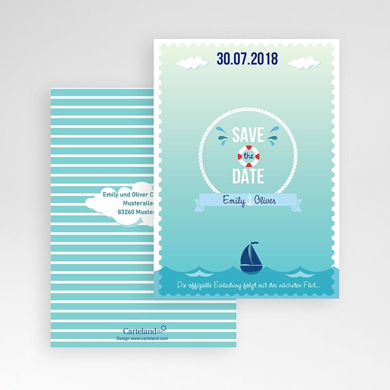 Save The Date Karten Hochzeit Anker pas cher