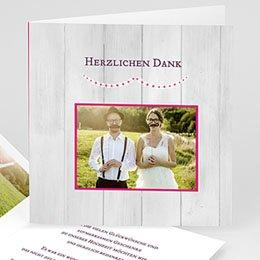 Danksagungskarten Hochzeit  Wir trauen uns