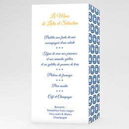 Menükarten Hochzeit  Design Lissabon