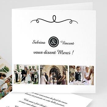 Danksagungskarten Hochzeit  - Schlichte Eleganz - 0