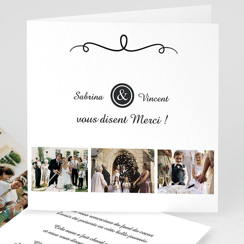 Danksagungskarten Hochzeit  Schlichte Eleganz