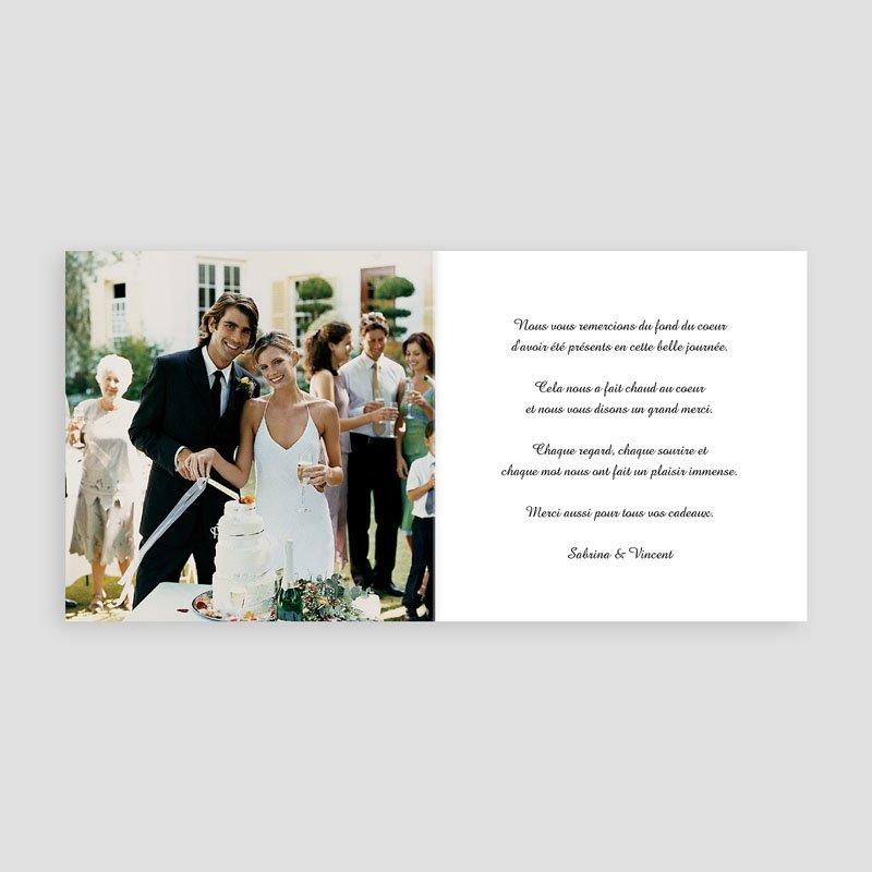 Danksagungskarten Hochzeit  Schlichte Eleganz pas cher