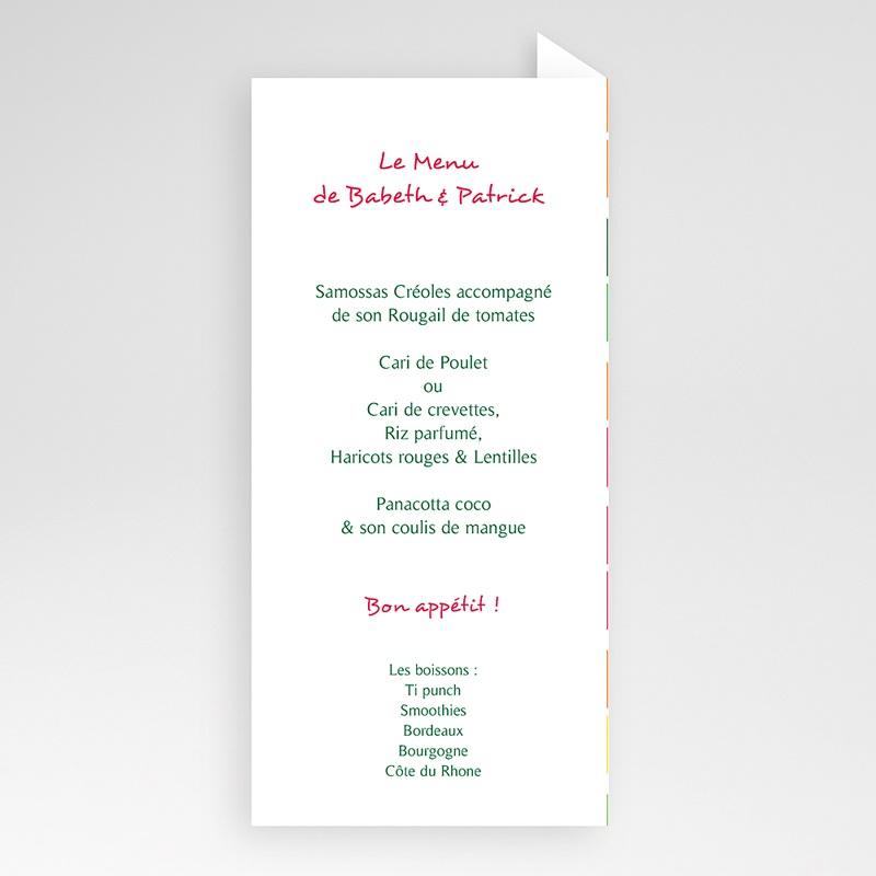 Menükarten Hochzeit  Redroses pas cher