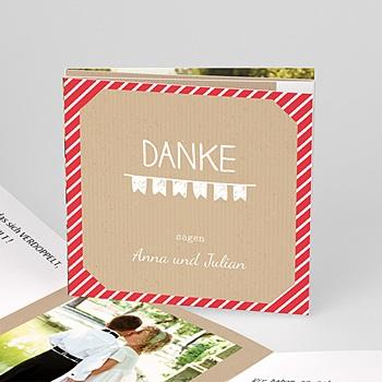 Danksagungskarten Hochzeit  - Gestreift - 0