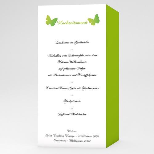 Menükarten Hochzeit  Schmetterlinge