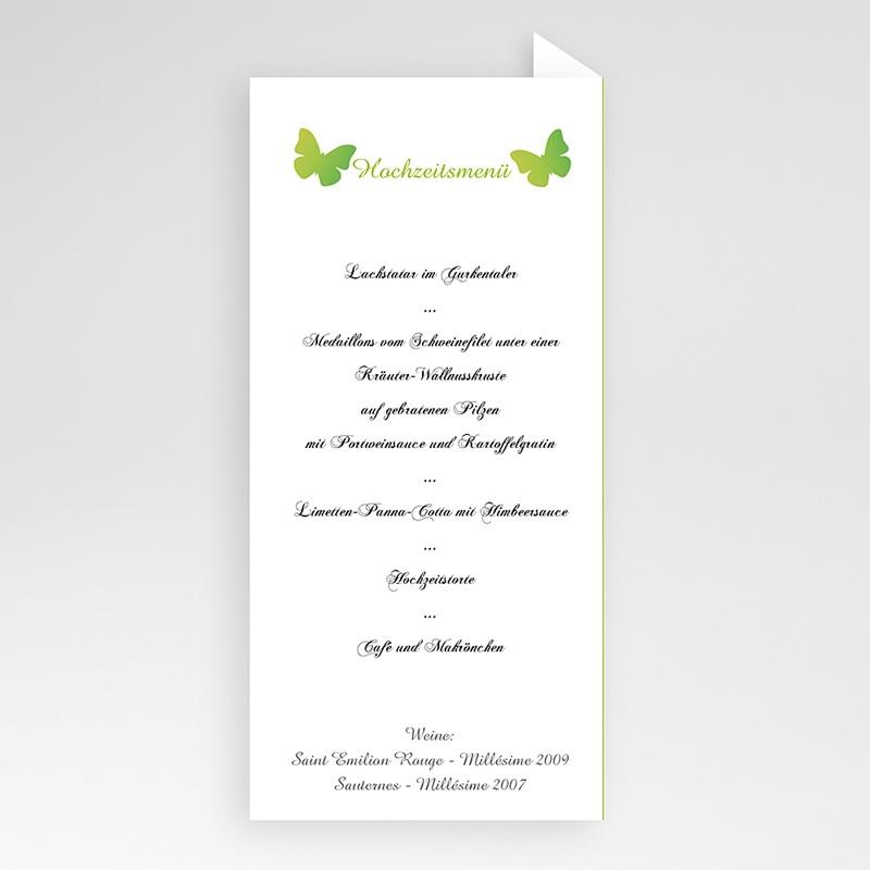 Menükarten Hochzeit  Schmetterlinge pas cher