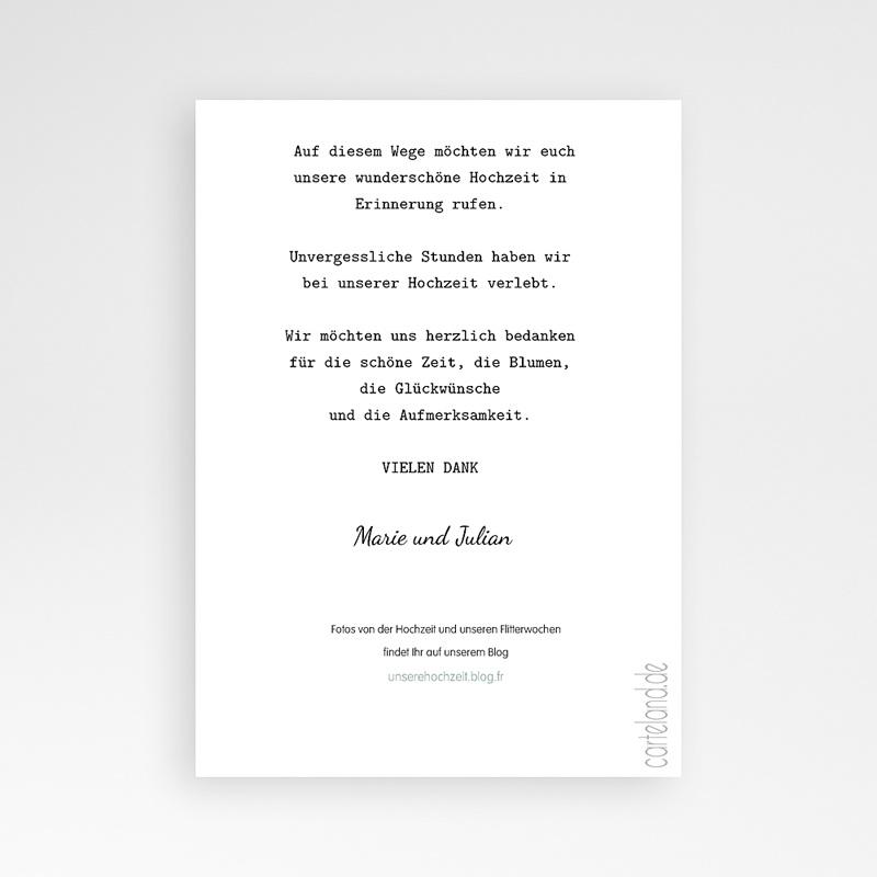 Danksagungskarten Hochzeit  Zauber pas cher