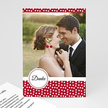 Danksagungskarten Hochzeit  - Rote Kirschen - 0