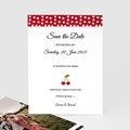 Save The Date Karten Hochzeit Rote Kirschen