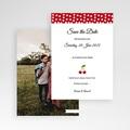 Save The Date Karten Hochzeit Rote Kirschen pas cher