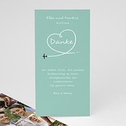 Danksagungskarten Hochzeit  - Weltenbummler - 0