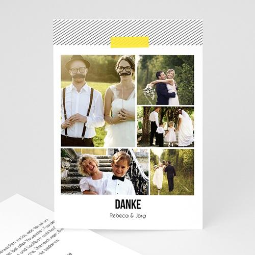 Danksagungskarten Hochzeit  Neon Gelb