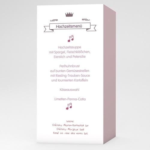Menükarten Hochzeit  Zarte Töne