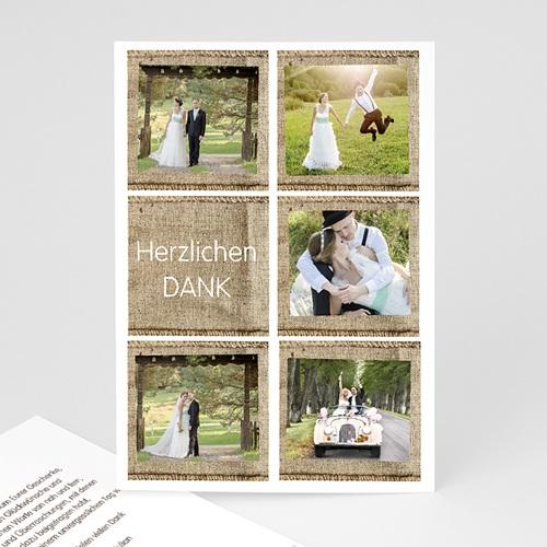 Danksagungskarten Hochzeit  Holzscheune