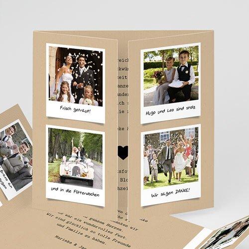 Originelle Dankeskarte Hochzeit  - Liebesglück 42599 thumb