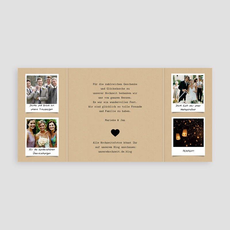 Originelle Dankeskarte Hochzeit  - Liebesglück 42600 thumb