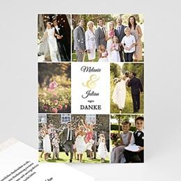 Danksagungskarten Hochzeit  - Typographie - 0