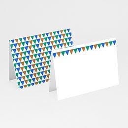 Tischkarten Hochzeit personalisiert Mosaikdesign