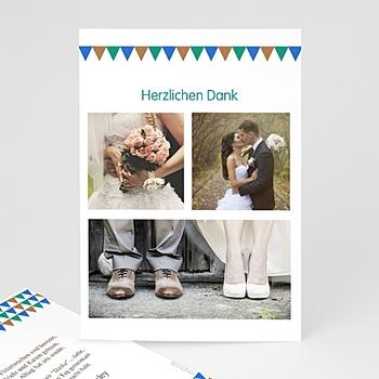 Danksagungskarten Hochzeit  - Mosaikdesign - 0