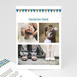 Danksagungskarten Hochzeit Mosaikdesign
